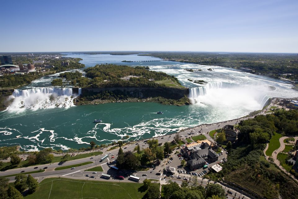 The three waterfalls that make up Niagara Falls