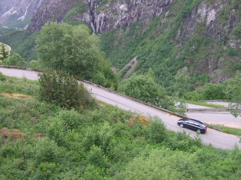 Hairpin Turns on Stalheimskleivane, the Steepest Road in Norway