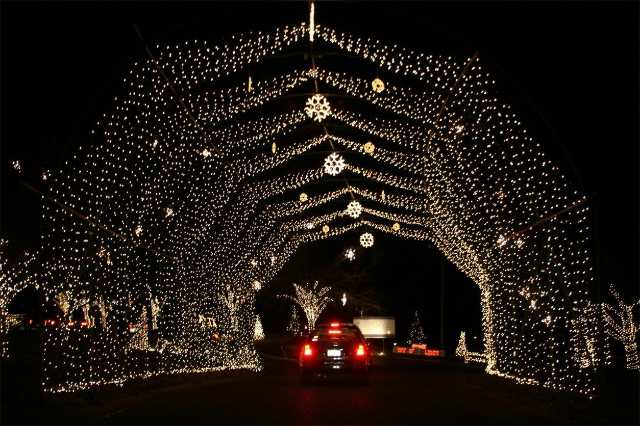 Way of Lights Christmas Display in Belleville, Illinois