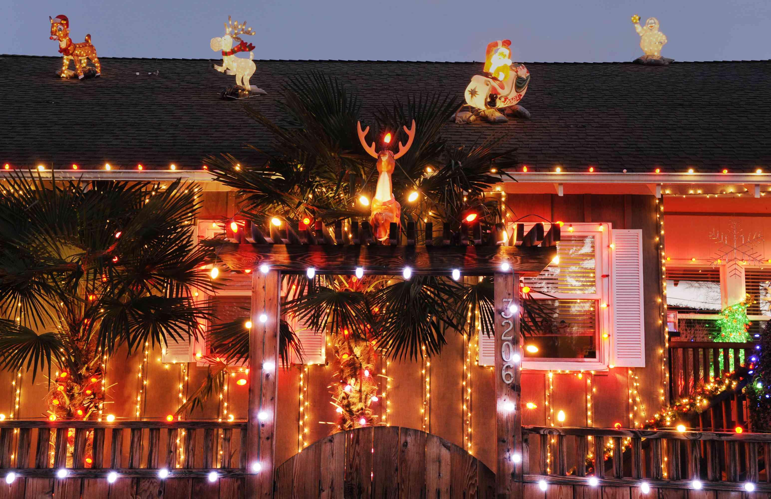Christmas Lighting on a house