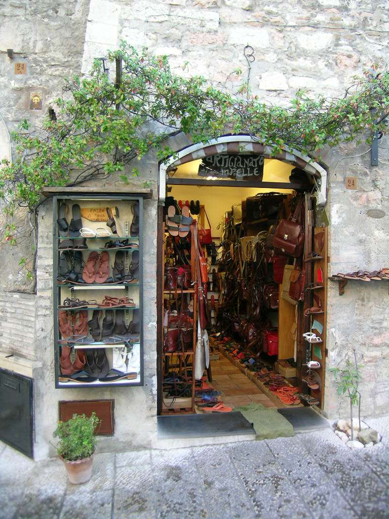 Shopping at Specialty Stores and Artisan Boutiques in Assisi, Italy