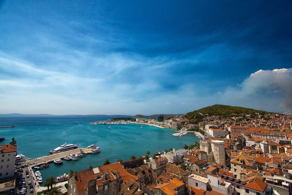 Port in Split, Croatia