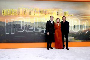 Leonardo Dicaprio, Brad Pitt, and Margot Robbie at UK premiere