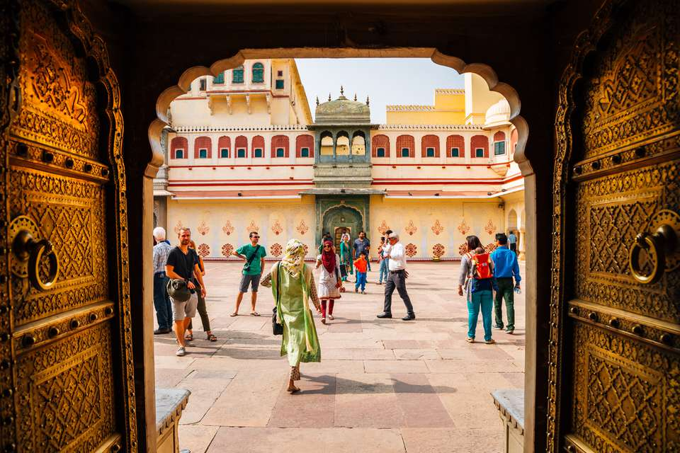 Entrance to the City Palace, Jaipur.