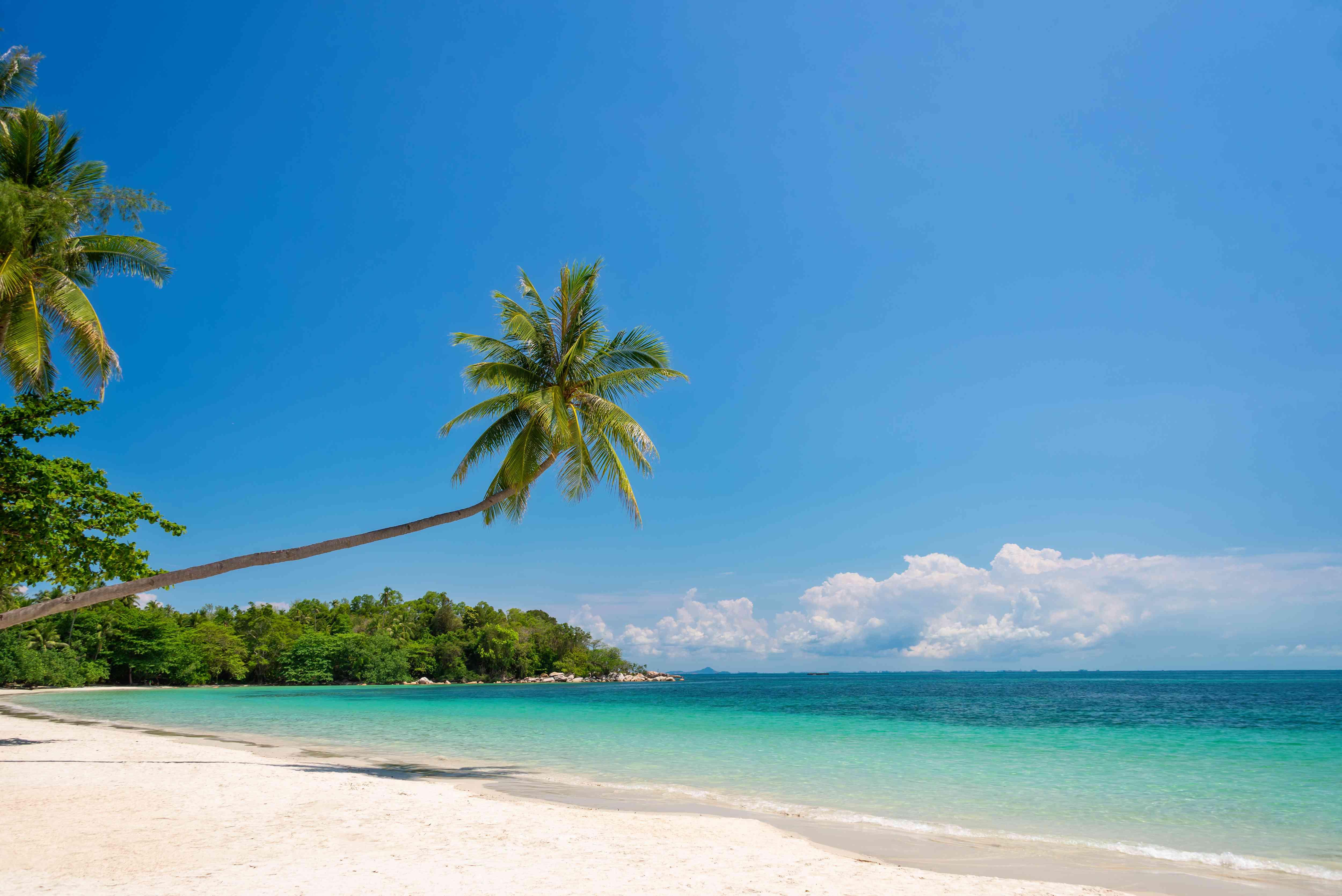 Pristine beach and water at Bintan Island in Sumatra