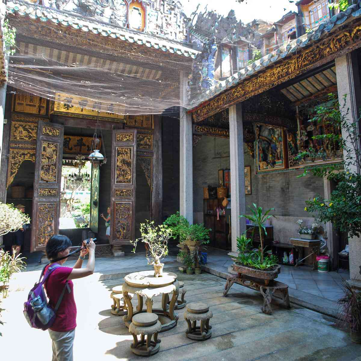 Central Atrium of the Chung Ancestral Temple, Penang, Malaysia