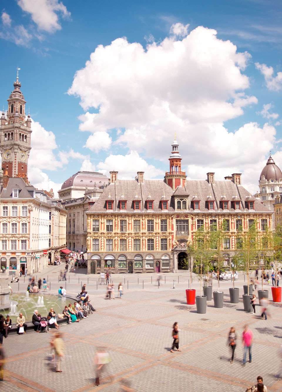 The main square in Lille, northern France