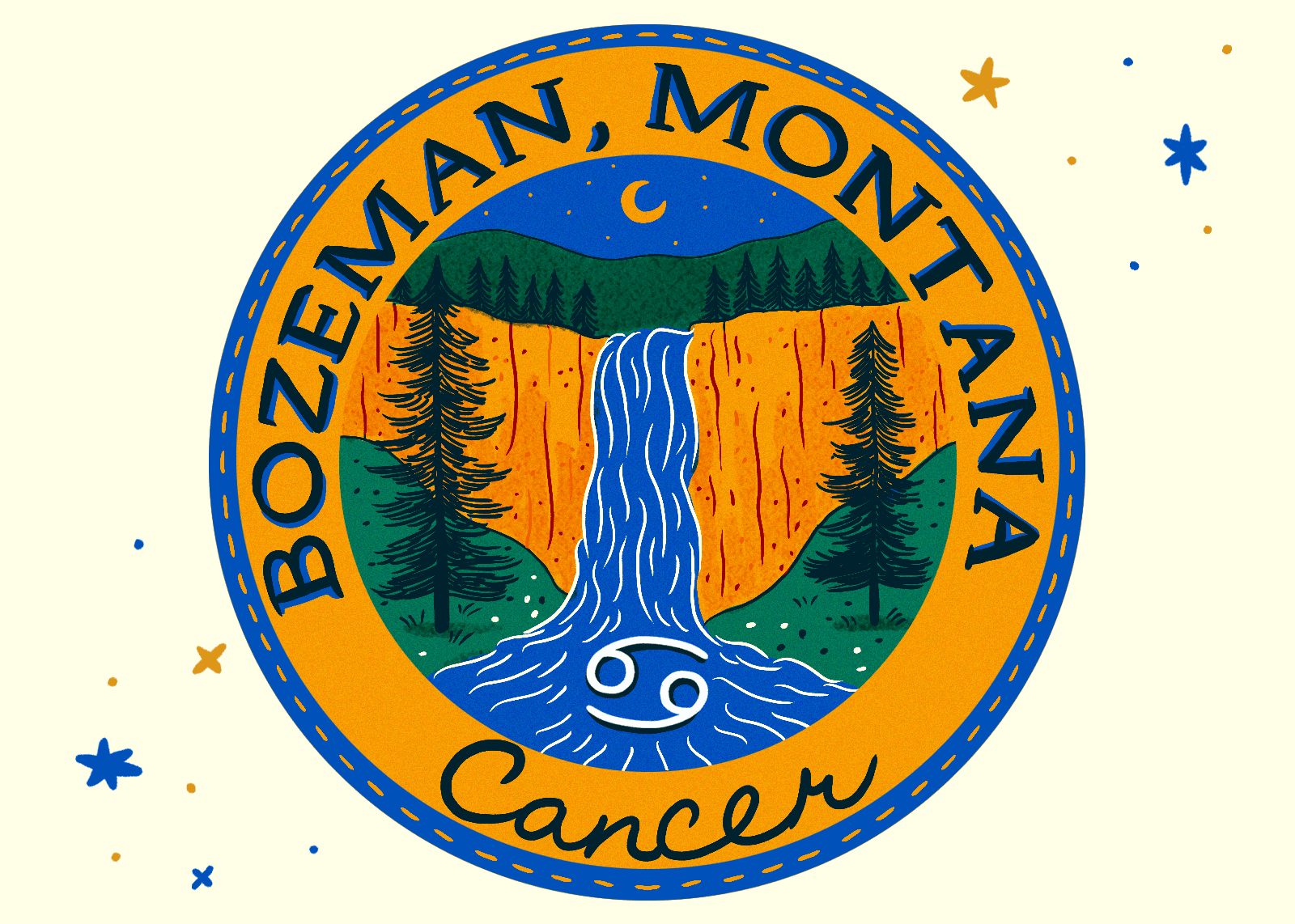 Illustration of Bozeman, Montana