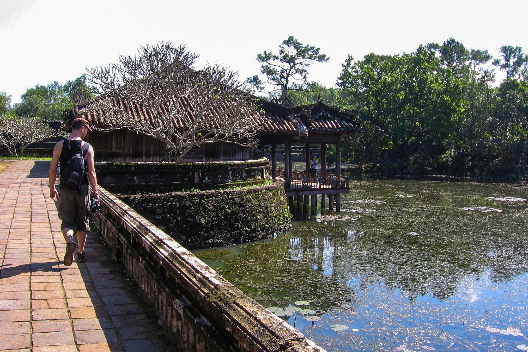 Luu Khiem Lake, Tu Duc Royal Tomb, Hue, Vietnam.