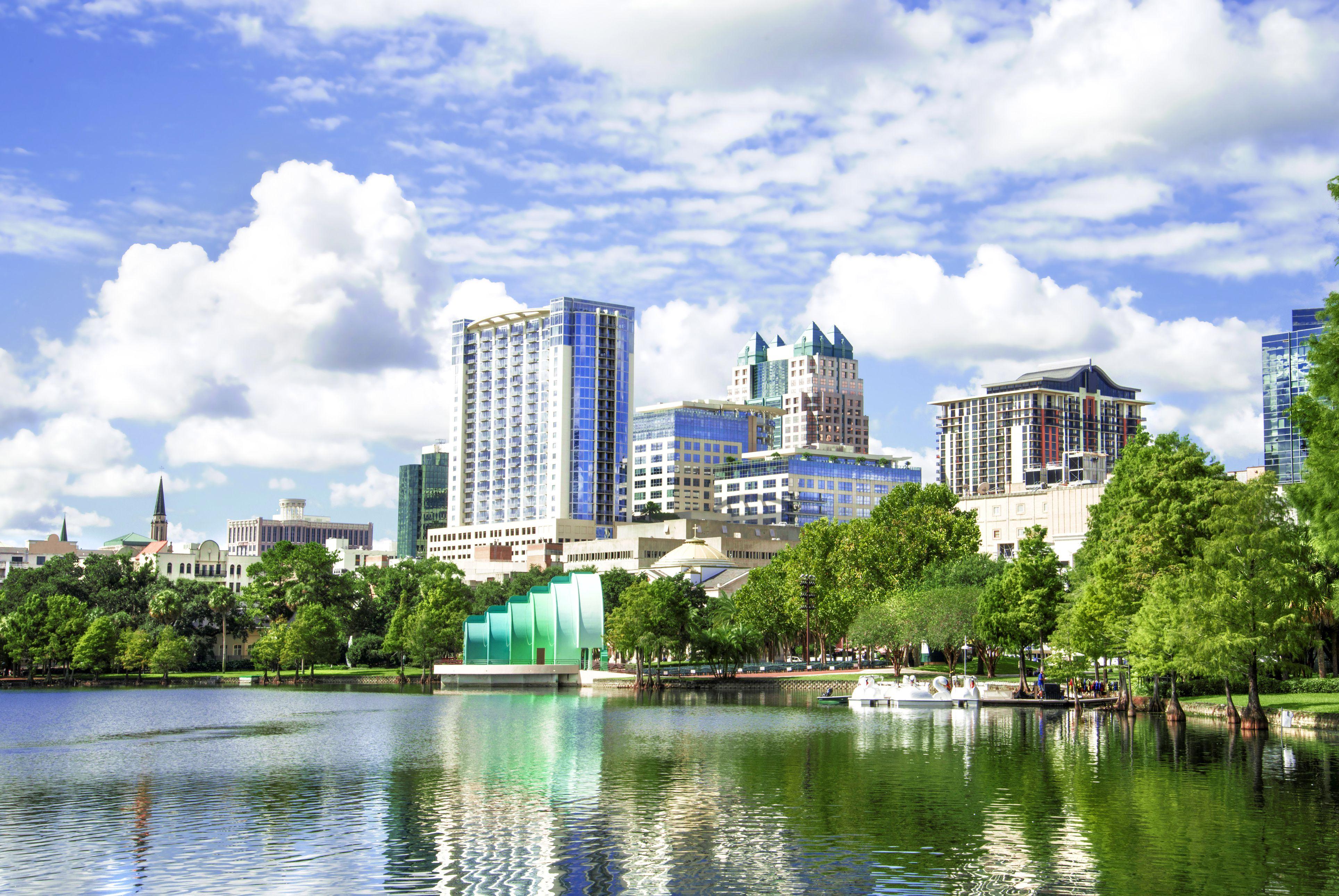 Lake Eola sehen in Orlando Florida