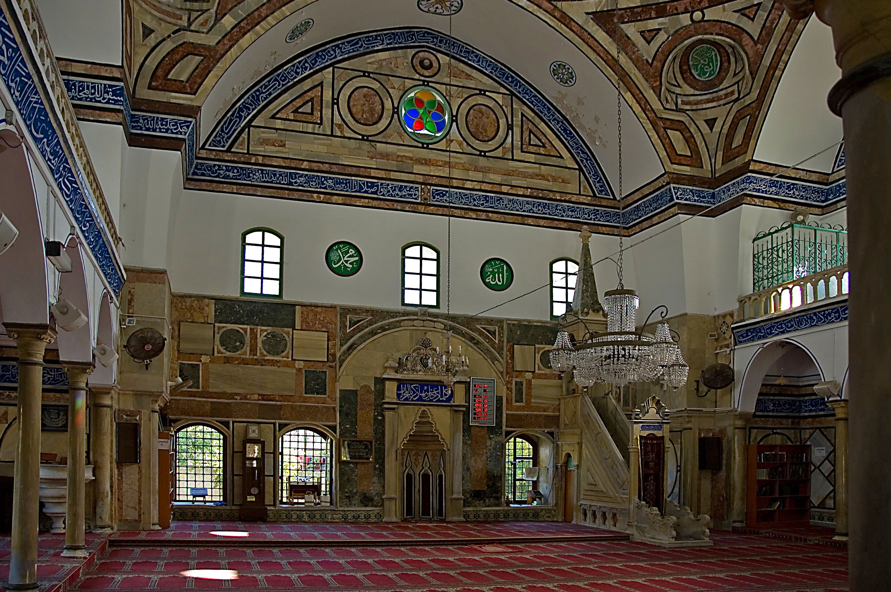 Akko's influential al Jezzar Mosque, built by the ruling Ottoman Pasha in the 1700s.