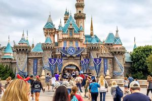 Disneyland Guests Hurrying to Fantasyland After the Rope Drop
