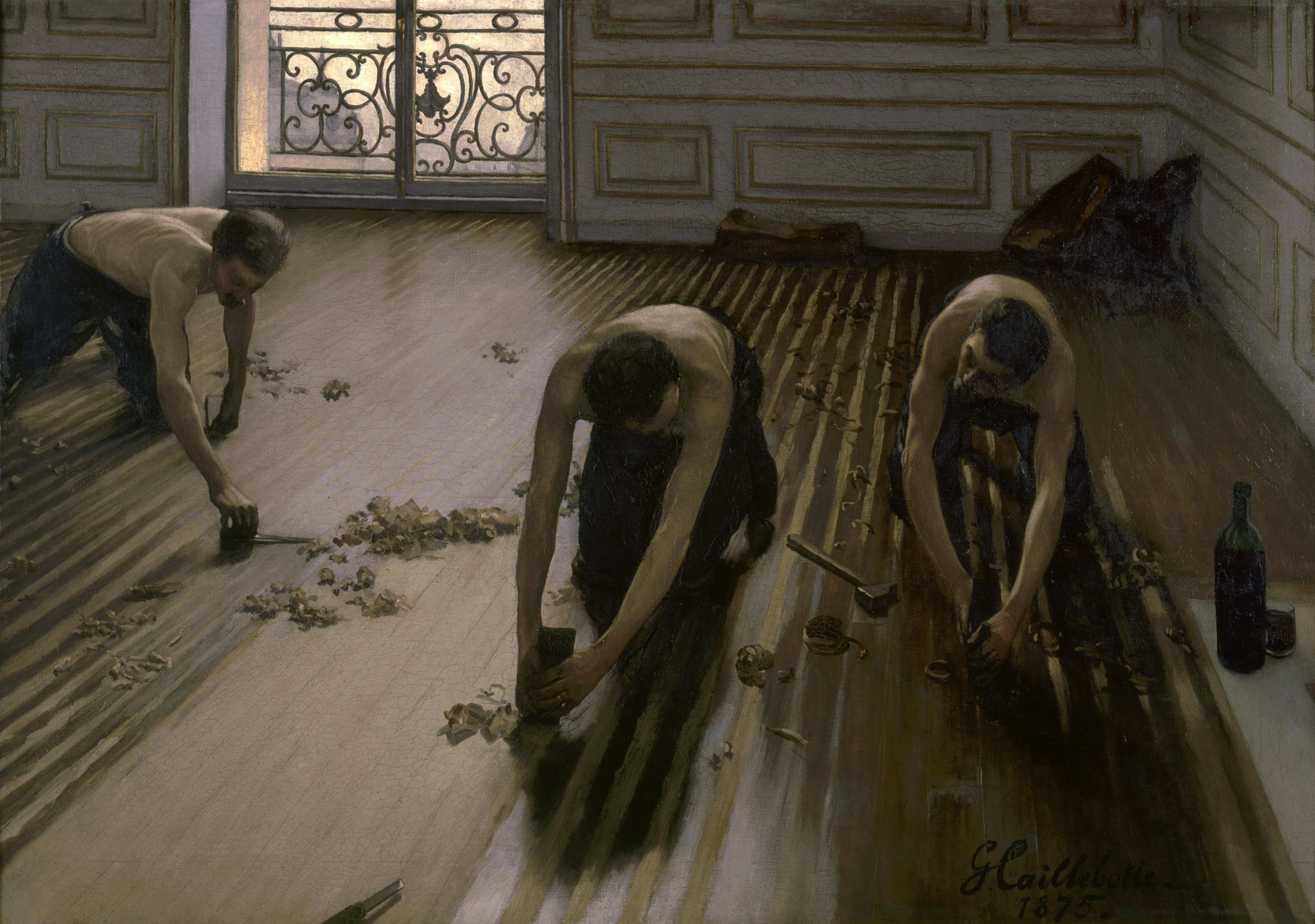 Gustave Caillebotte, The Floor Scrapers (1875). Musee d'Orsay, París