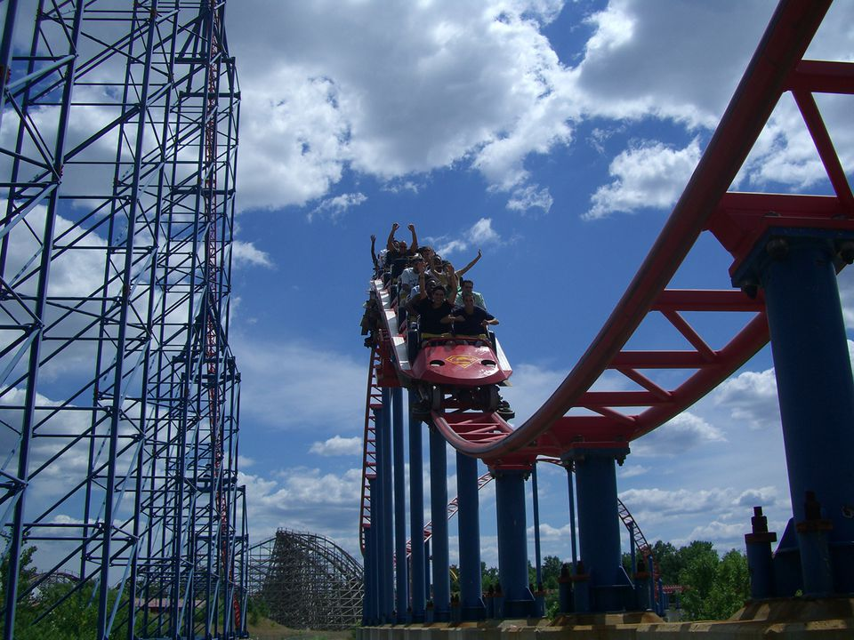 Superman Ride Of Steel at Six Flags America