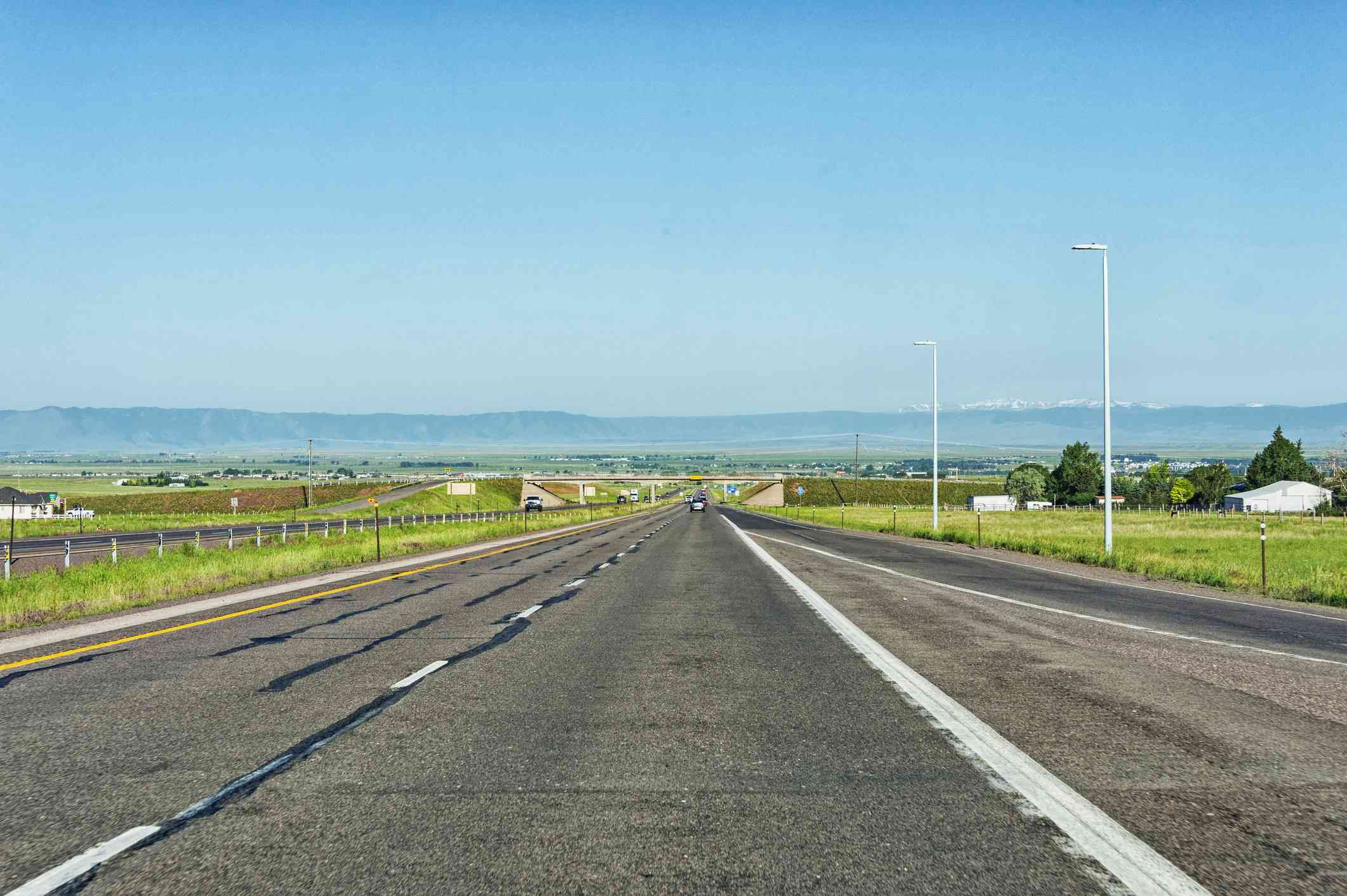 Highway to Laramie coming from Cheyenne