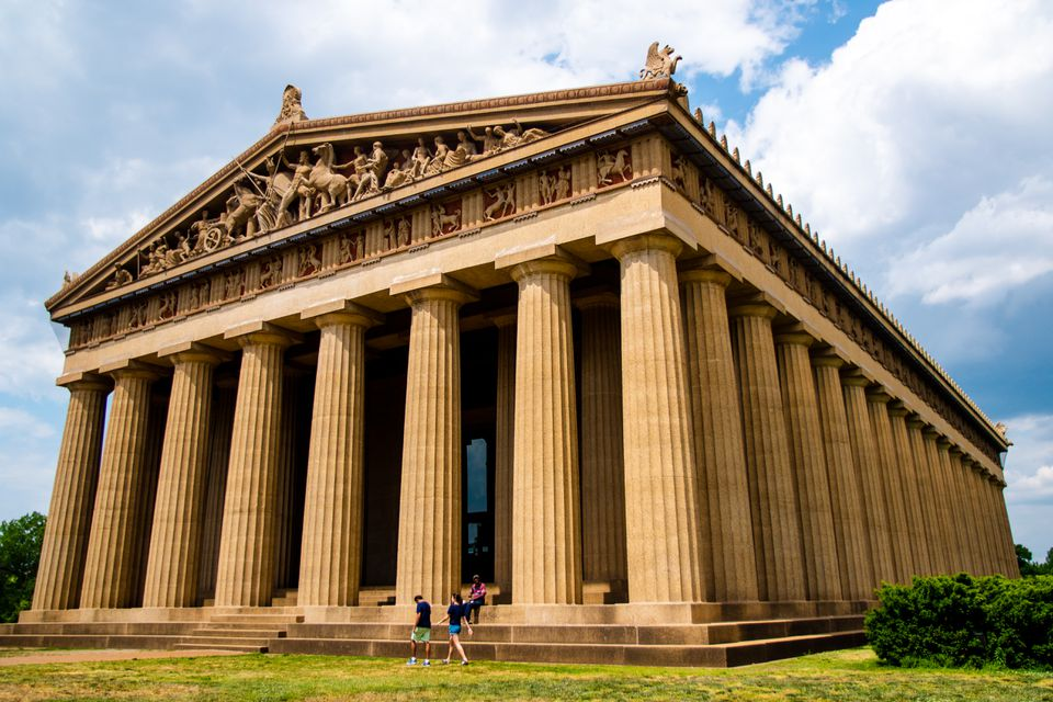 Exterior of the parthenon in Nashville