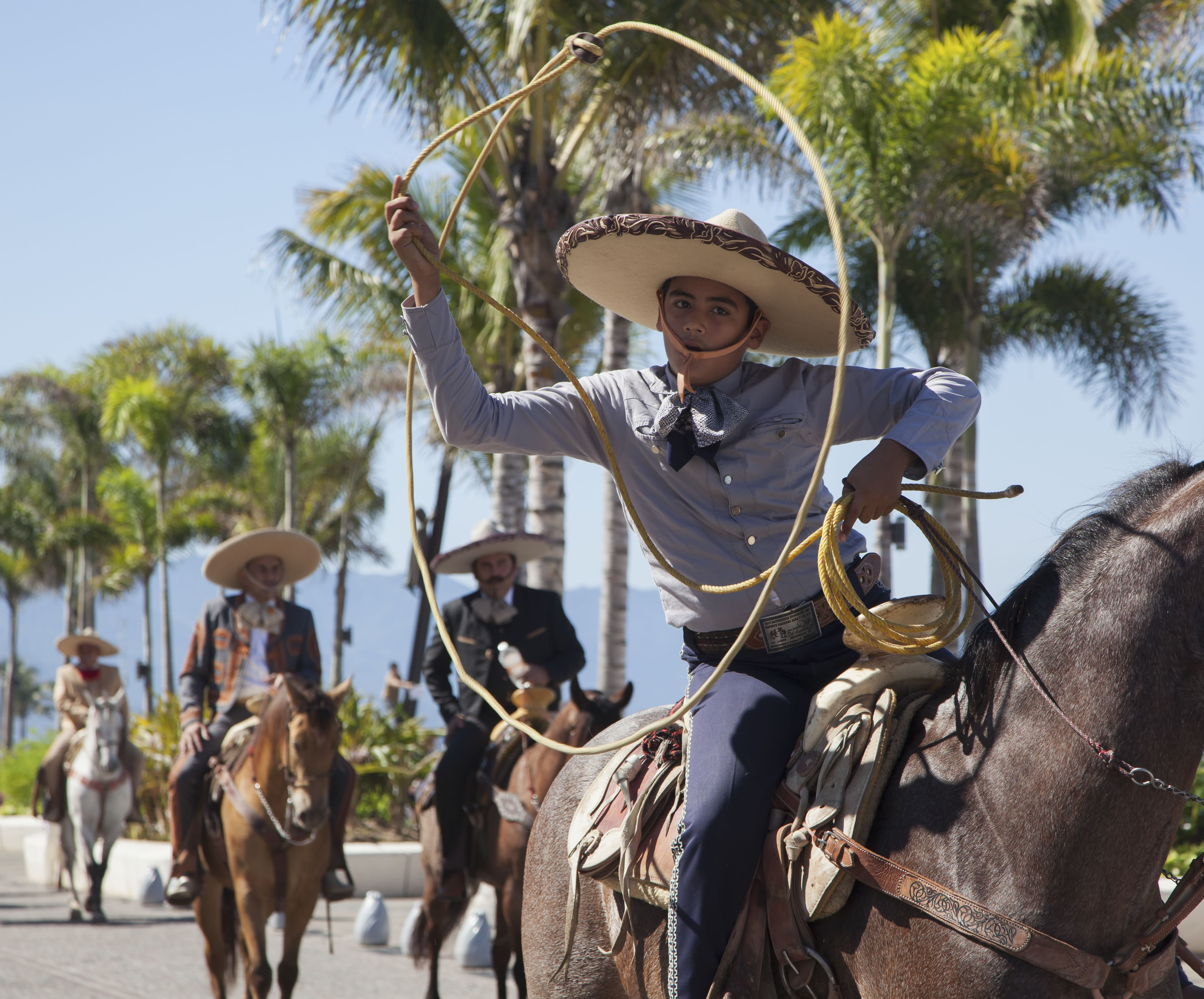 Mexican rodeo and parade in Puerto Vallarta, Mexico