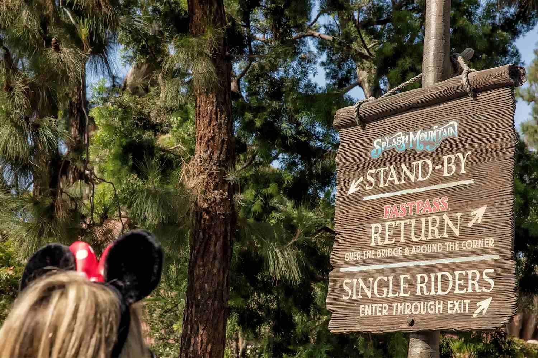 Single Rider Line at Splash Mountain, Disneyland