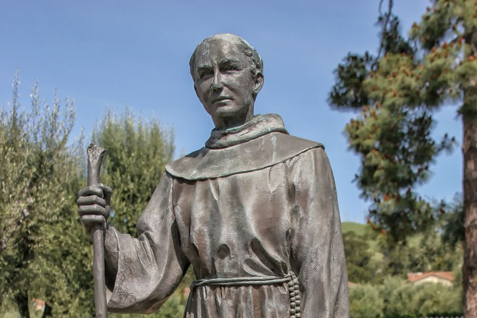 Statue of Father Lasuen at Mission San Jose