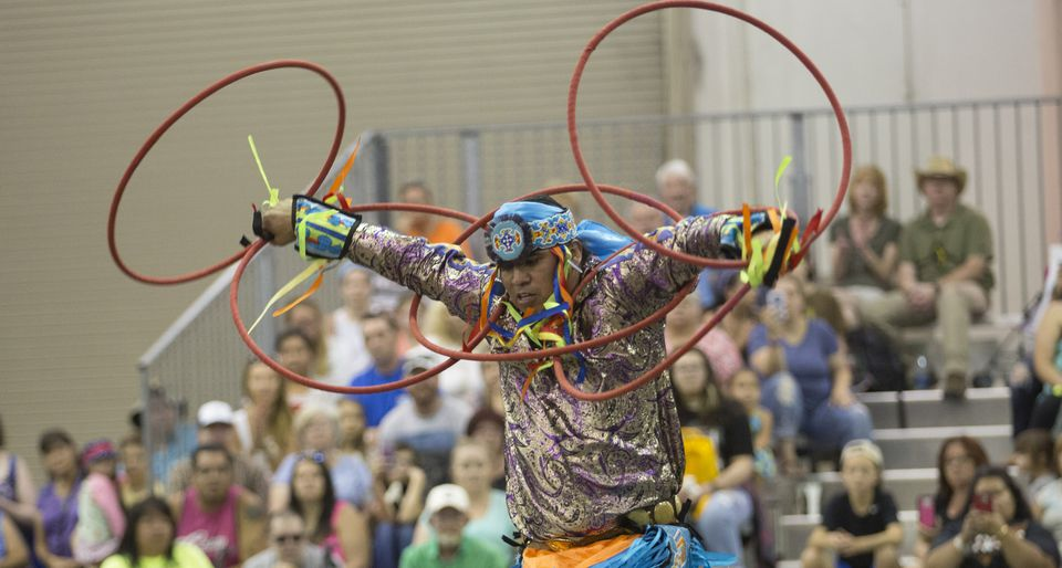 Festival de los nativos americanos de Red Earth celebrado en la ciudad de Oklahoma