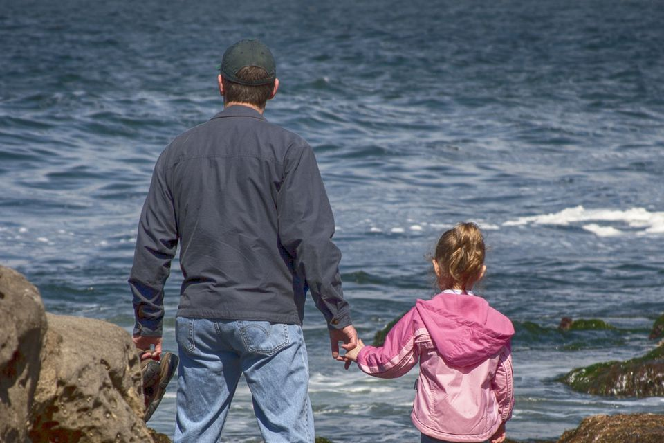 Father and Daughter at La Jolla Cove