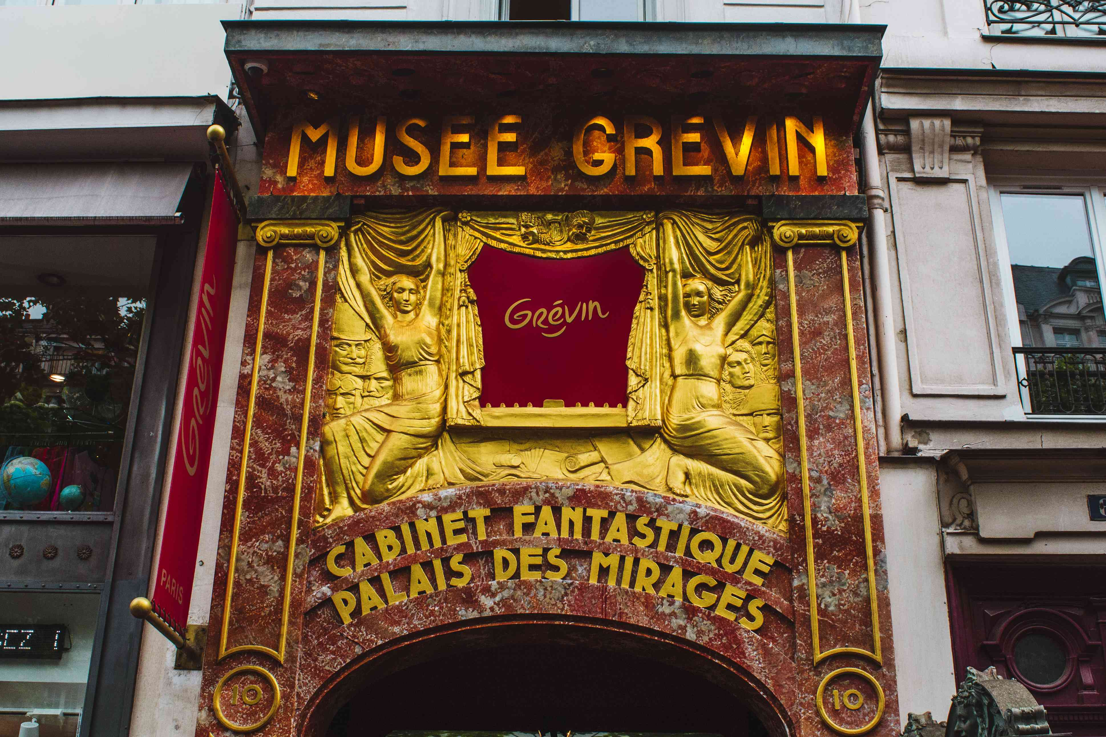 Entrance to Musee Grevin