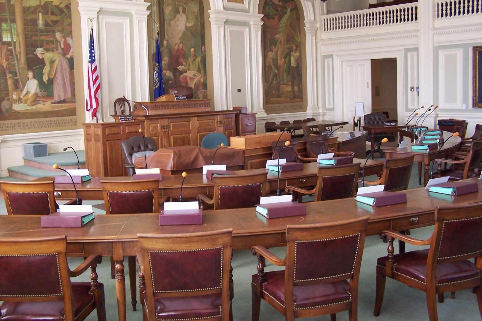 New Hampshire State Senate Chambers