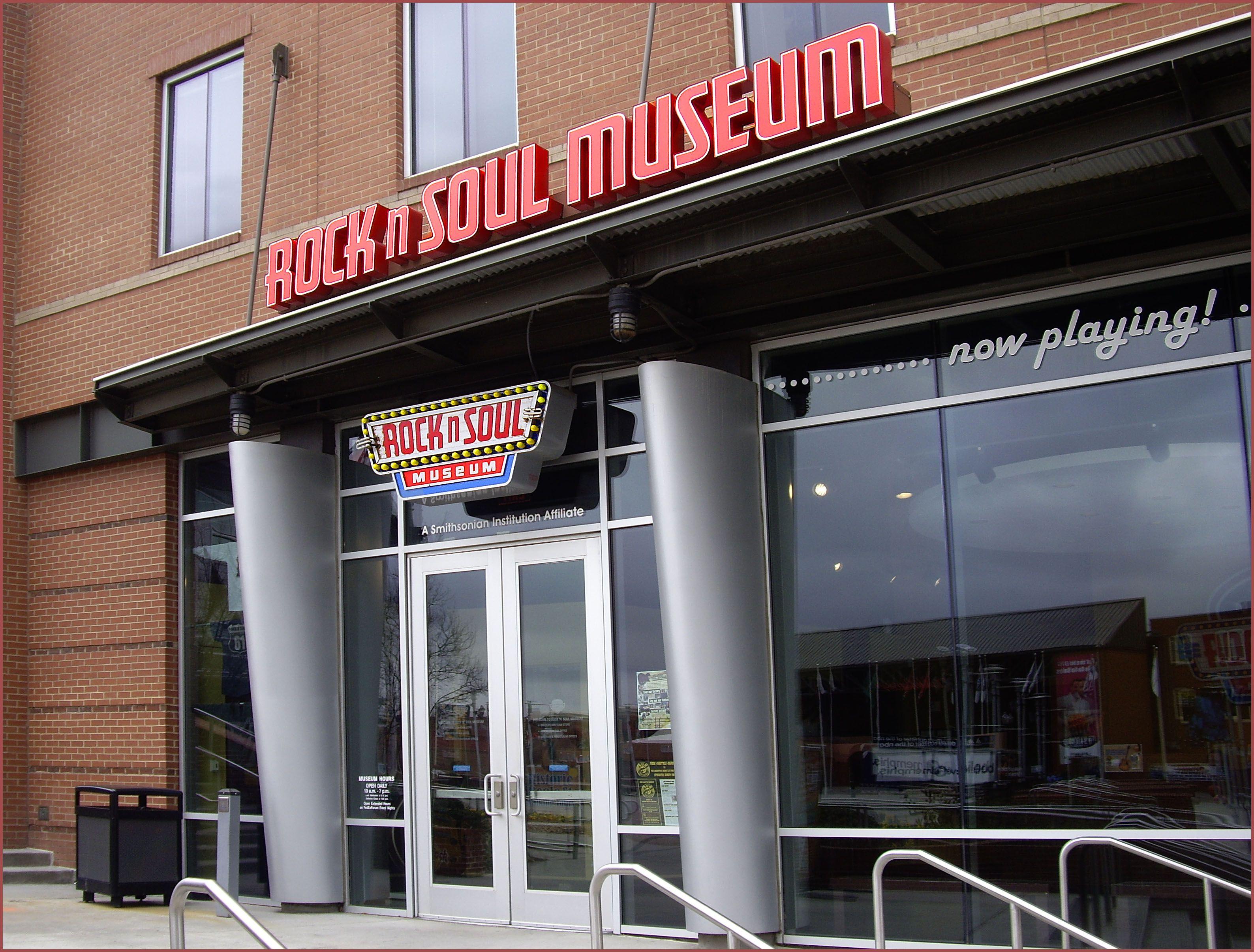 Entrance to Rock-n-soul Museum in Memphis