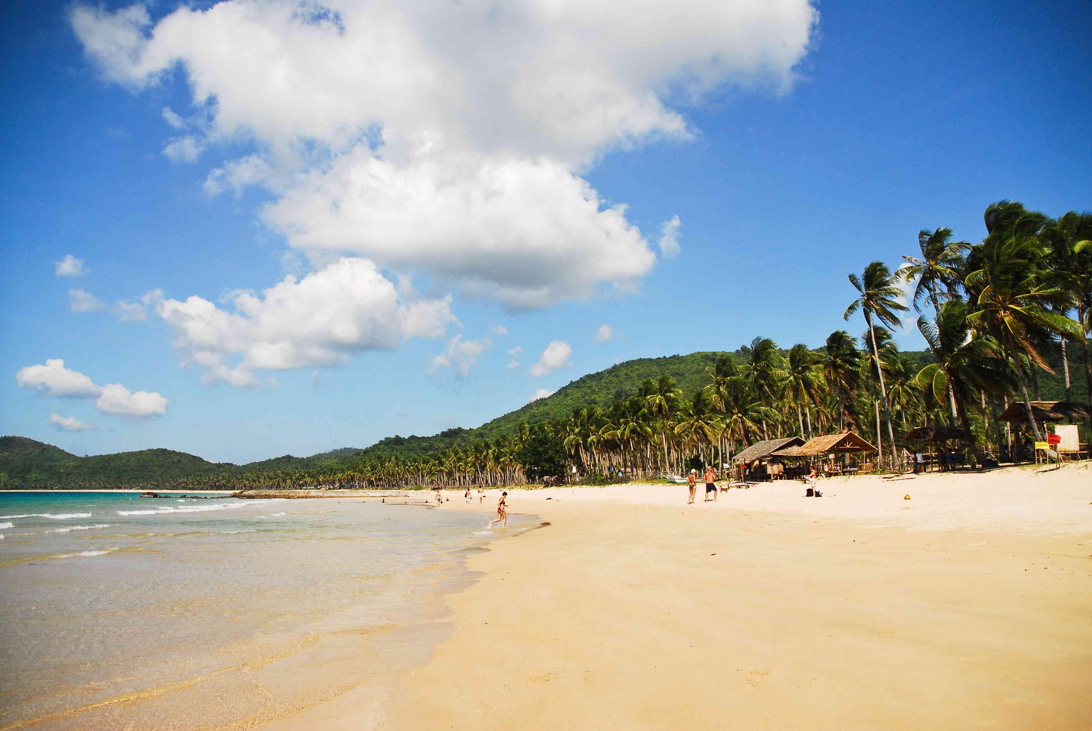 Una playa virgen en Palawan