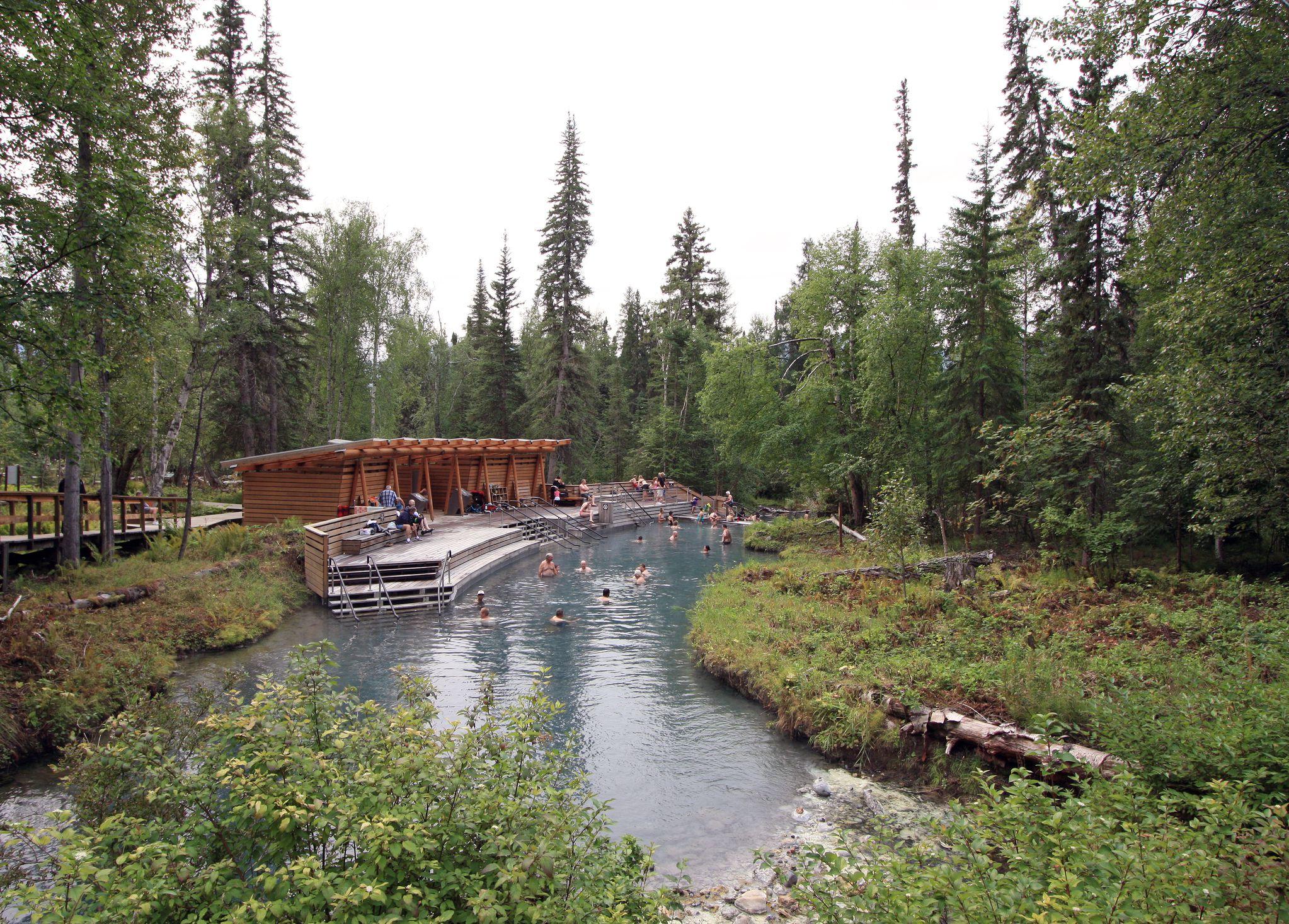 Liard River Hot Springs in British Columbia, Canada.