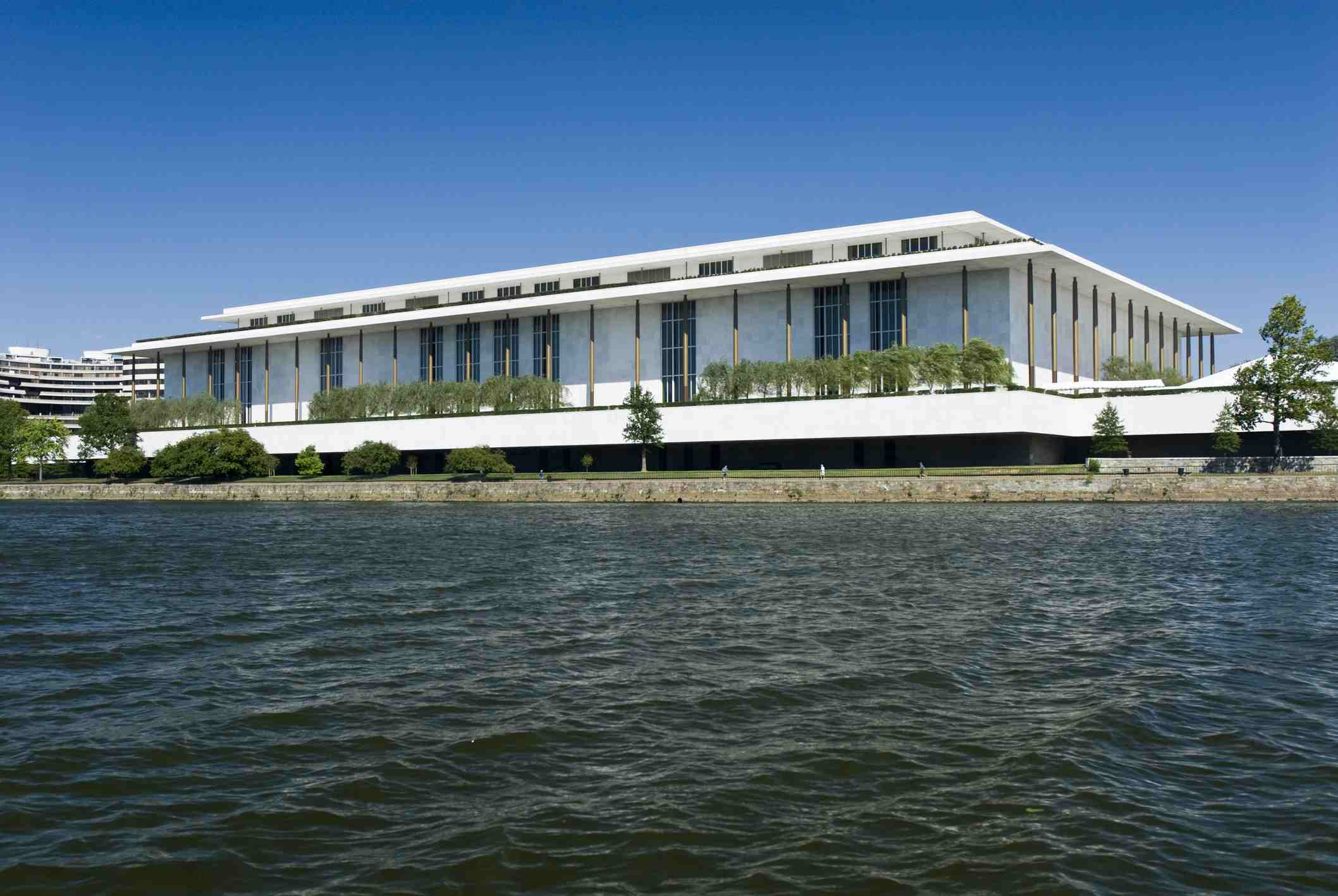 John F. Kennedy Center for the Performing Arts, from Potomac River