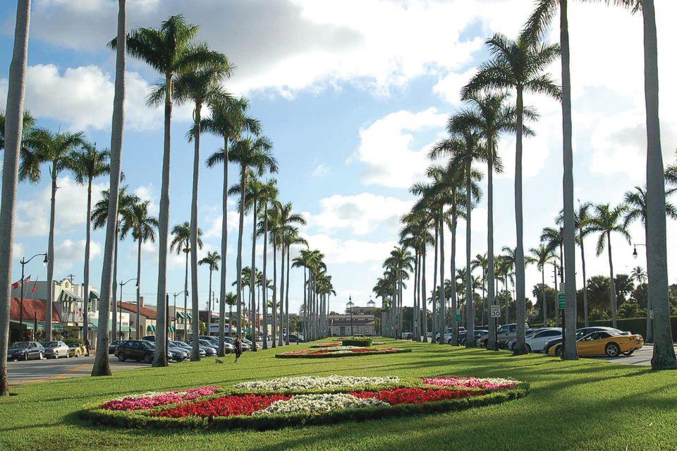 Royal Poinciana Way in Palm Beach Florida