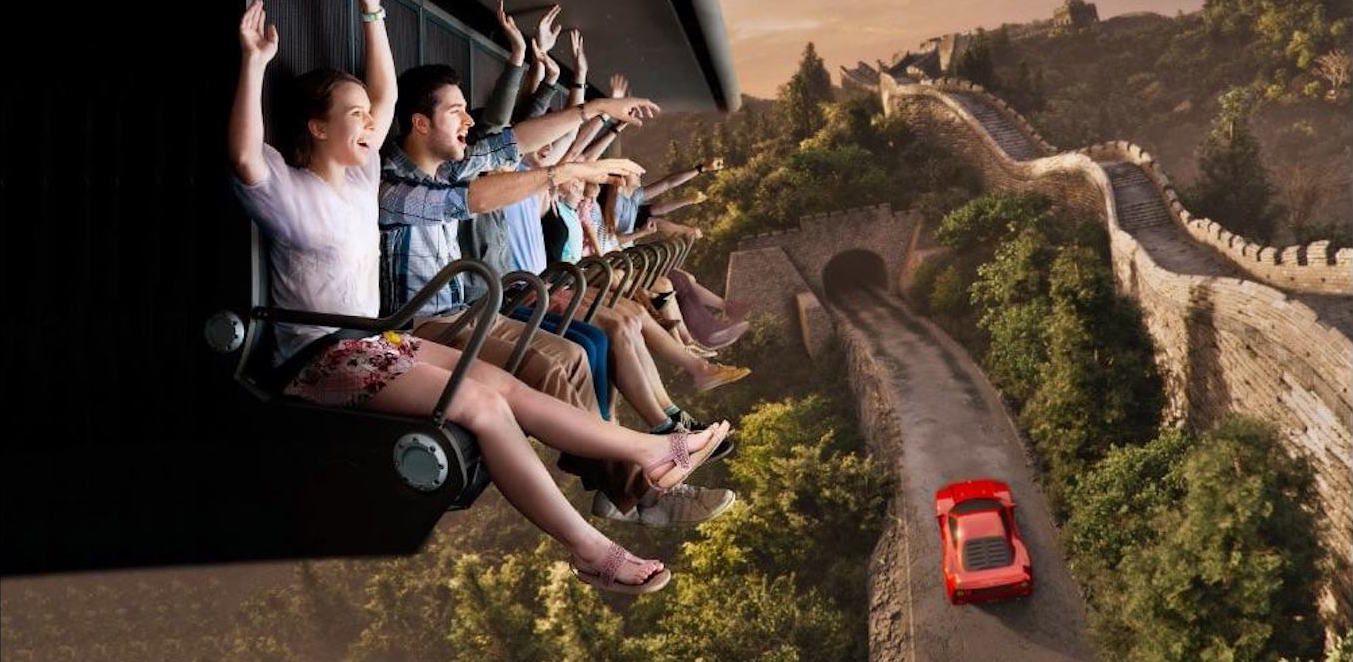Flying Dreams ride at Ferrari Land Spain
