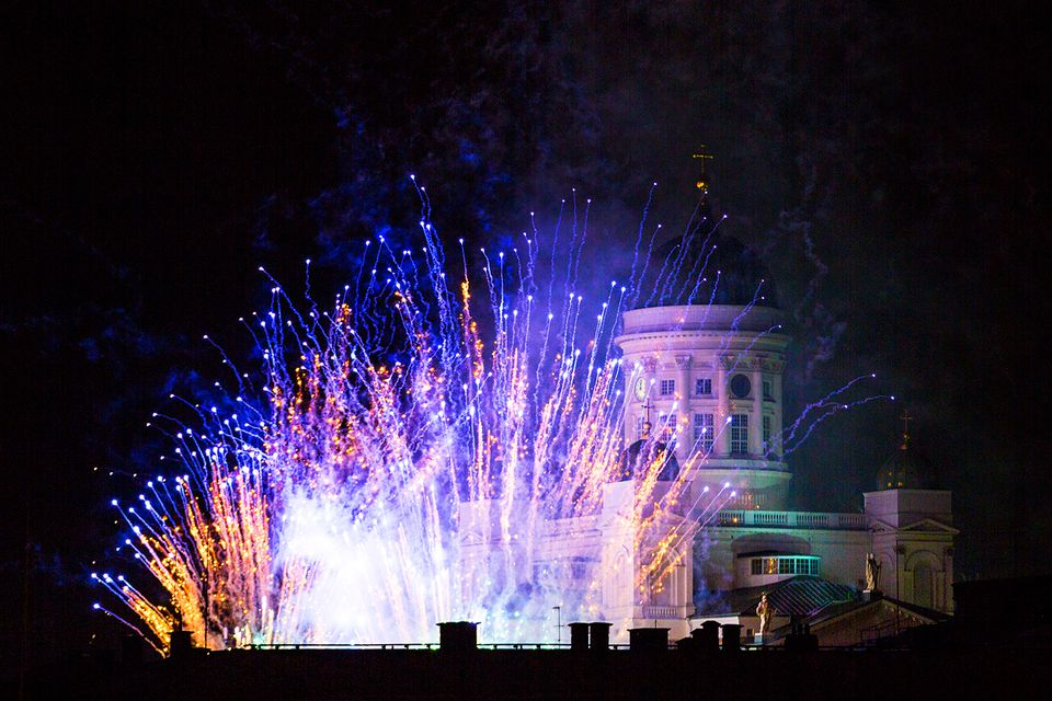 New Year 2016 celebration in the city of Helsinki