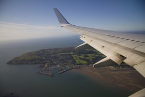 The approach to Dublin Airport