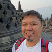 Mike Aquino at Borobudur in Indonesia