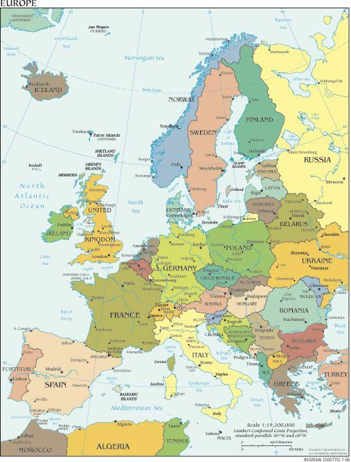Map Of Germany And Surrounding Countries.Northern Europe Cruise Maps