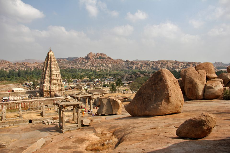 Hampi ruins in Karnataka, India.
