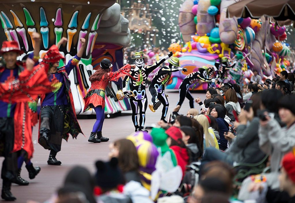 halloween parade in Disneyland Tokyo