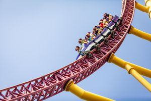 Top Thrill Dragster coaster at Cedar Point