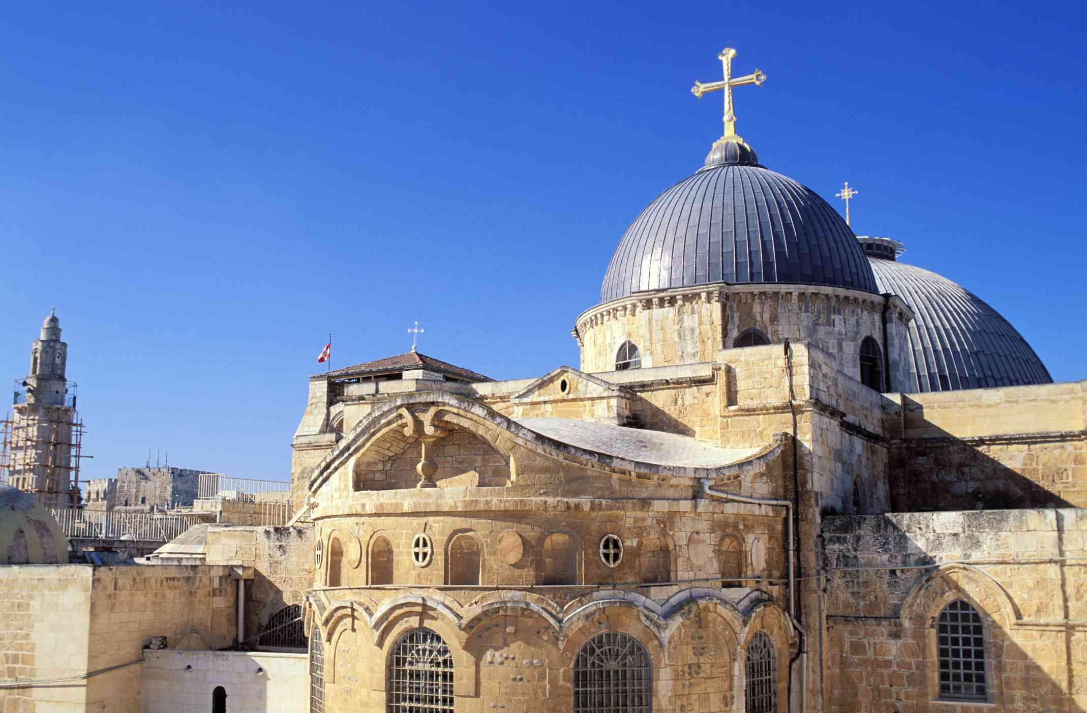 Israel, Jerusalem, Church of the Holy Sepulcher in the Old City of Jerusalem