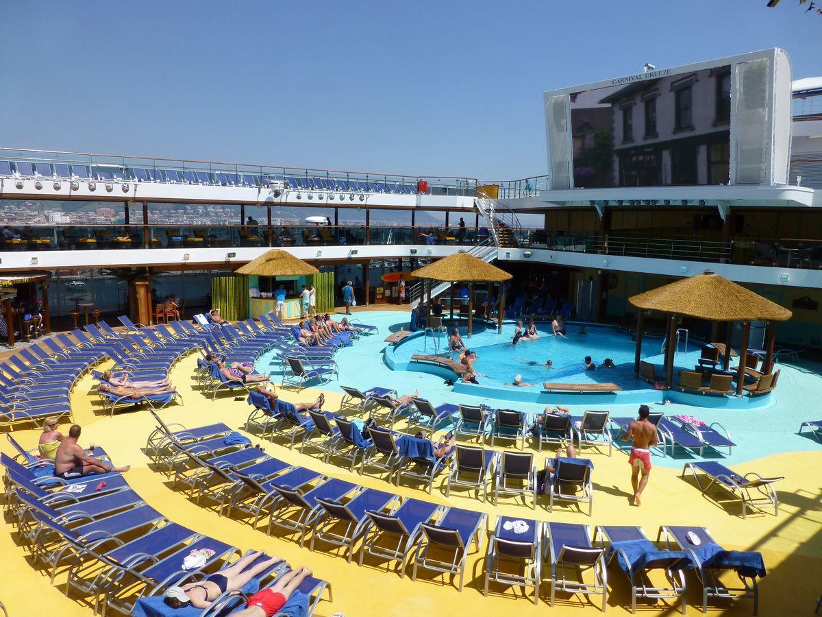 Carnival Breeze Outdoor Deck Areas