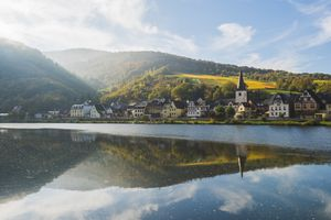 Briedern, Moselle river, Germany.