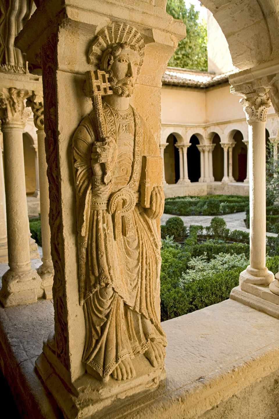 The delightful cloister of the cathedral St-Sauveur in old Aix-en-Provence