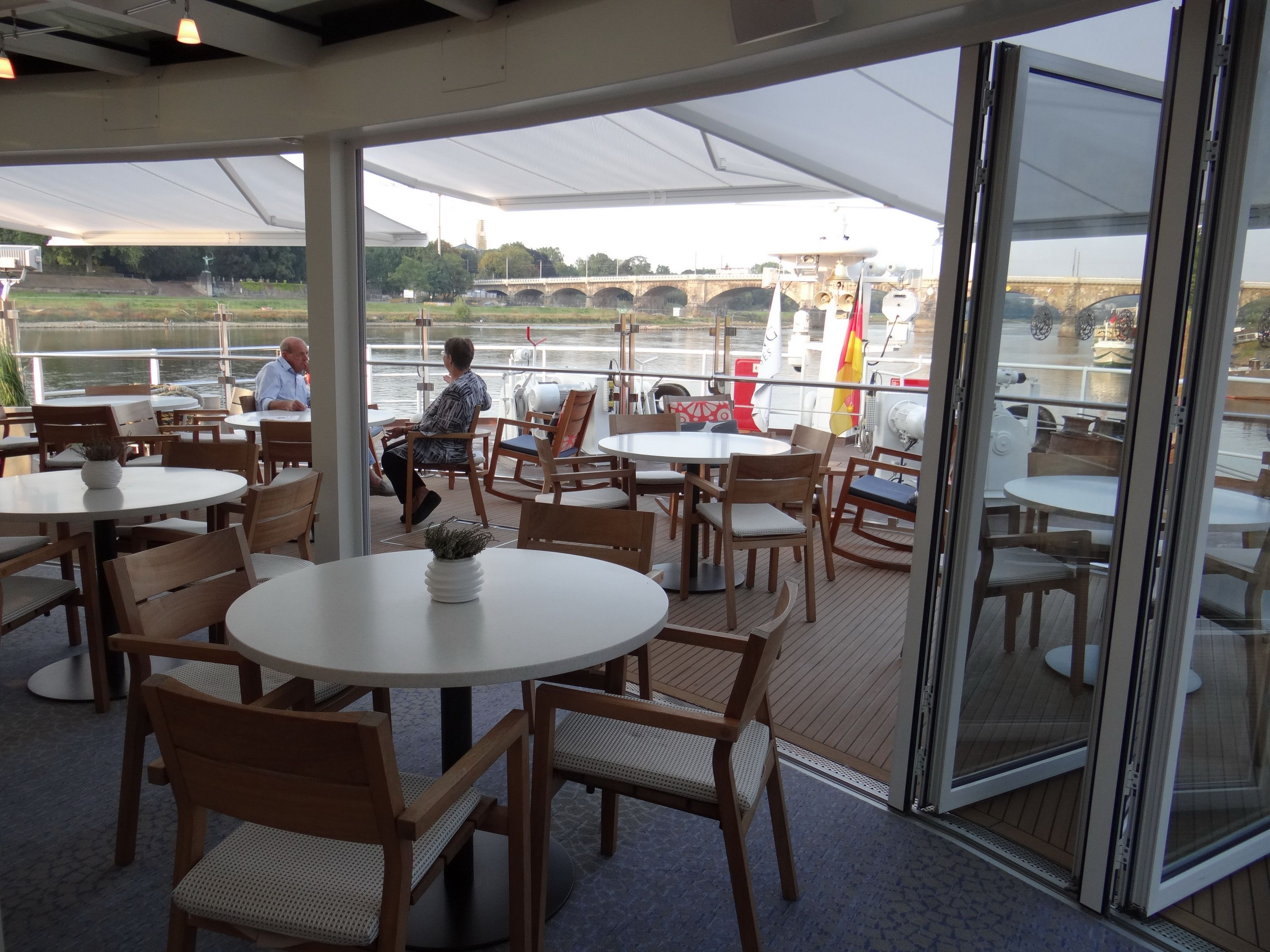 Lounge and Aquavit Terrace on the Viking Elbe River cruise ships