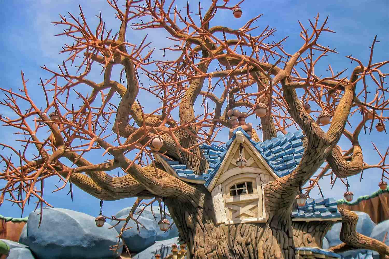 La casa del árbol de Chip 'n' Dale en Disneyland