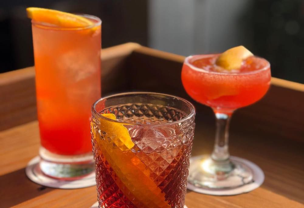 colorful cocktail drinks