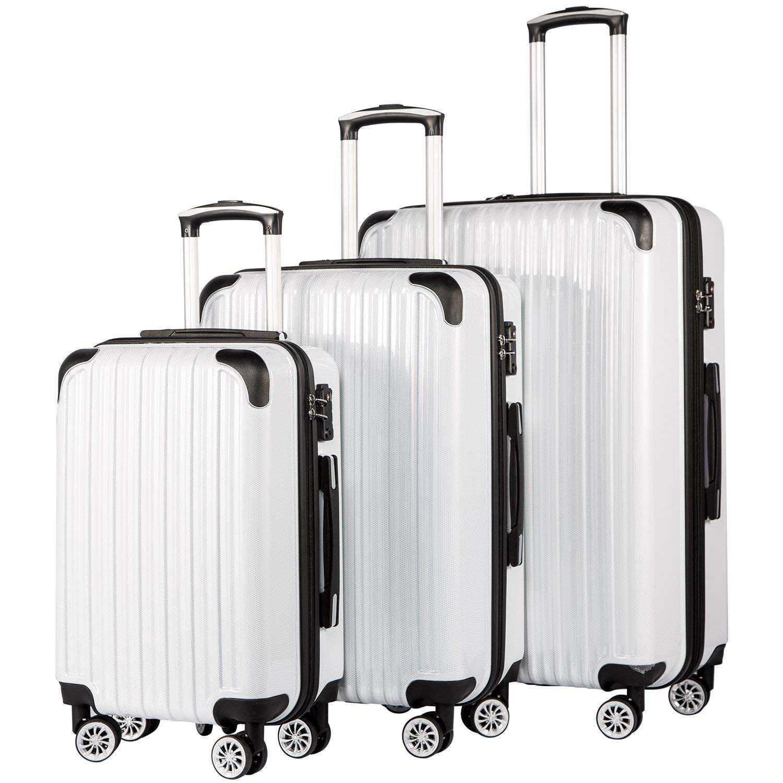 Coolife Luggage Expandable Set de 3 piezas
