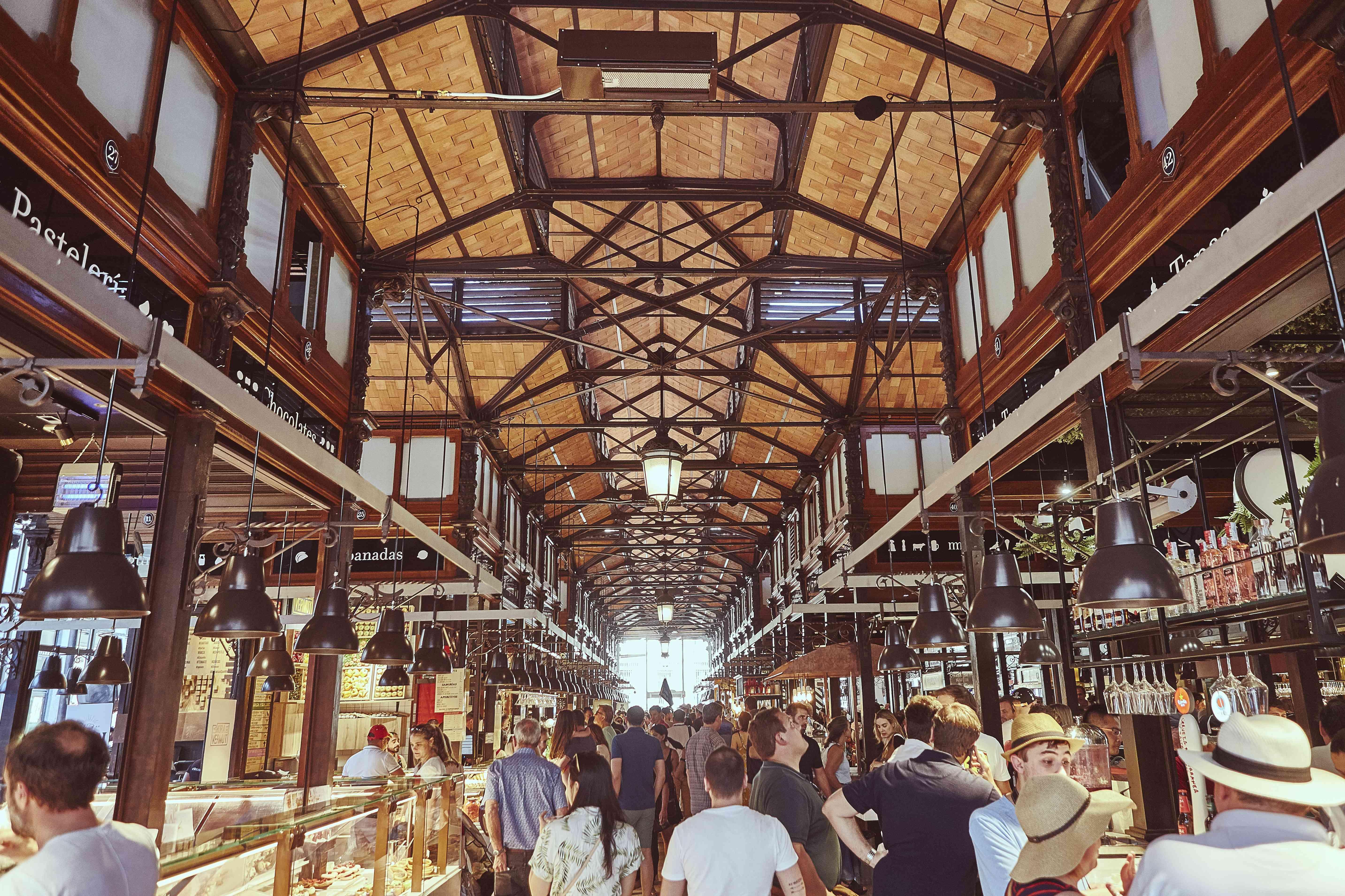 Inside of Mercado San Miguel