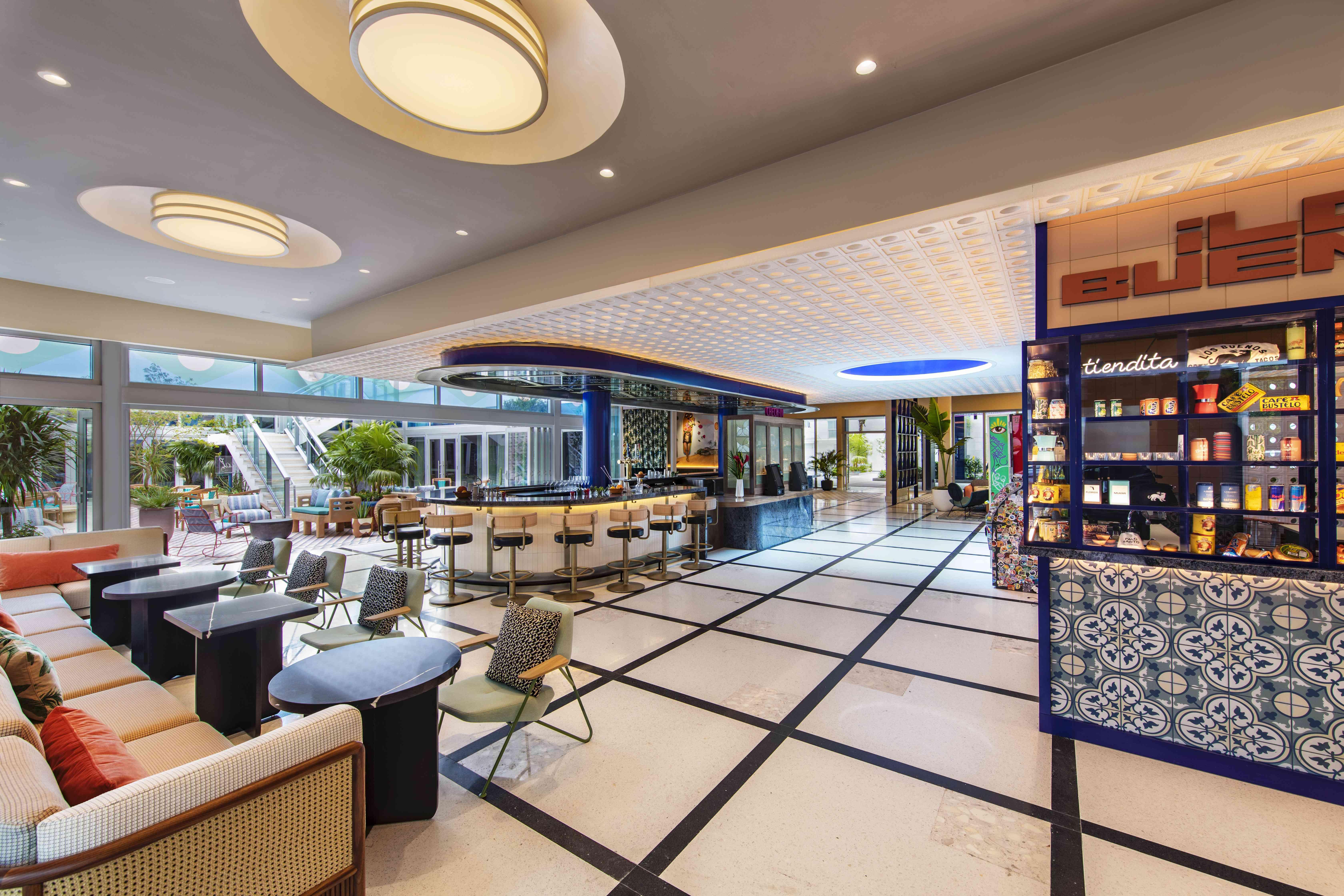Moxy South Beach lobby